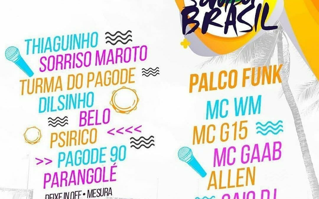 Nomes do samba em Fortaleza dia 18/08
