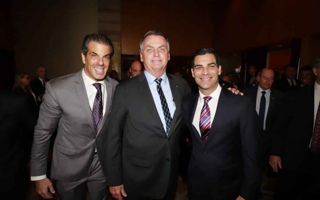 Jair Bolsonaro no Fórum das Américas em Miami