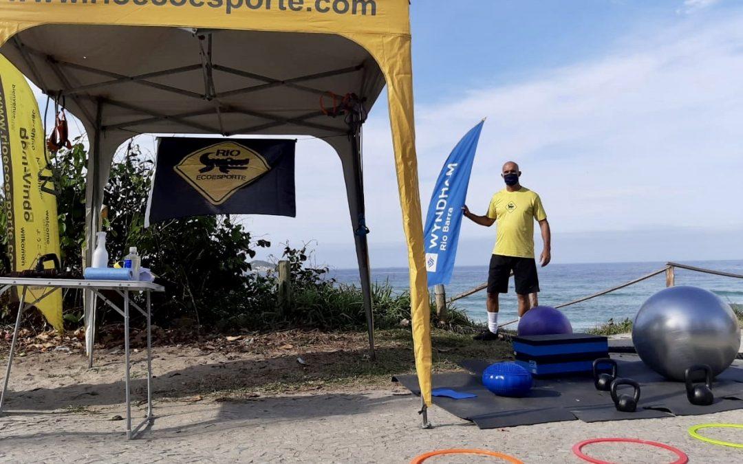 Rio Ecoesporte promove atividades físicas na praia da Barra