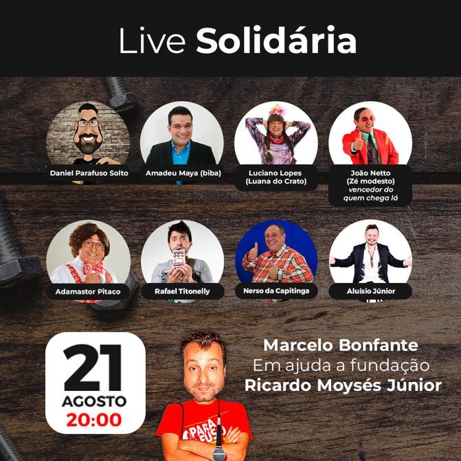 Live Solidária com o humorista Marcelo Bonfante